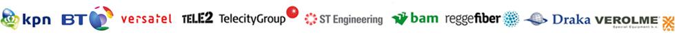 KPN, British Telecom, Versatel, Tele2, TeleCityGroup, ST Engineering, BAM, ReggeFiber, Draka, Verolme